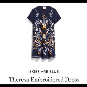 Skies Are Blue Theresa Embroidered Dress